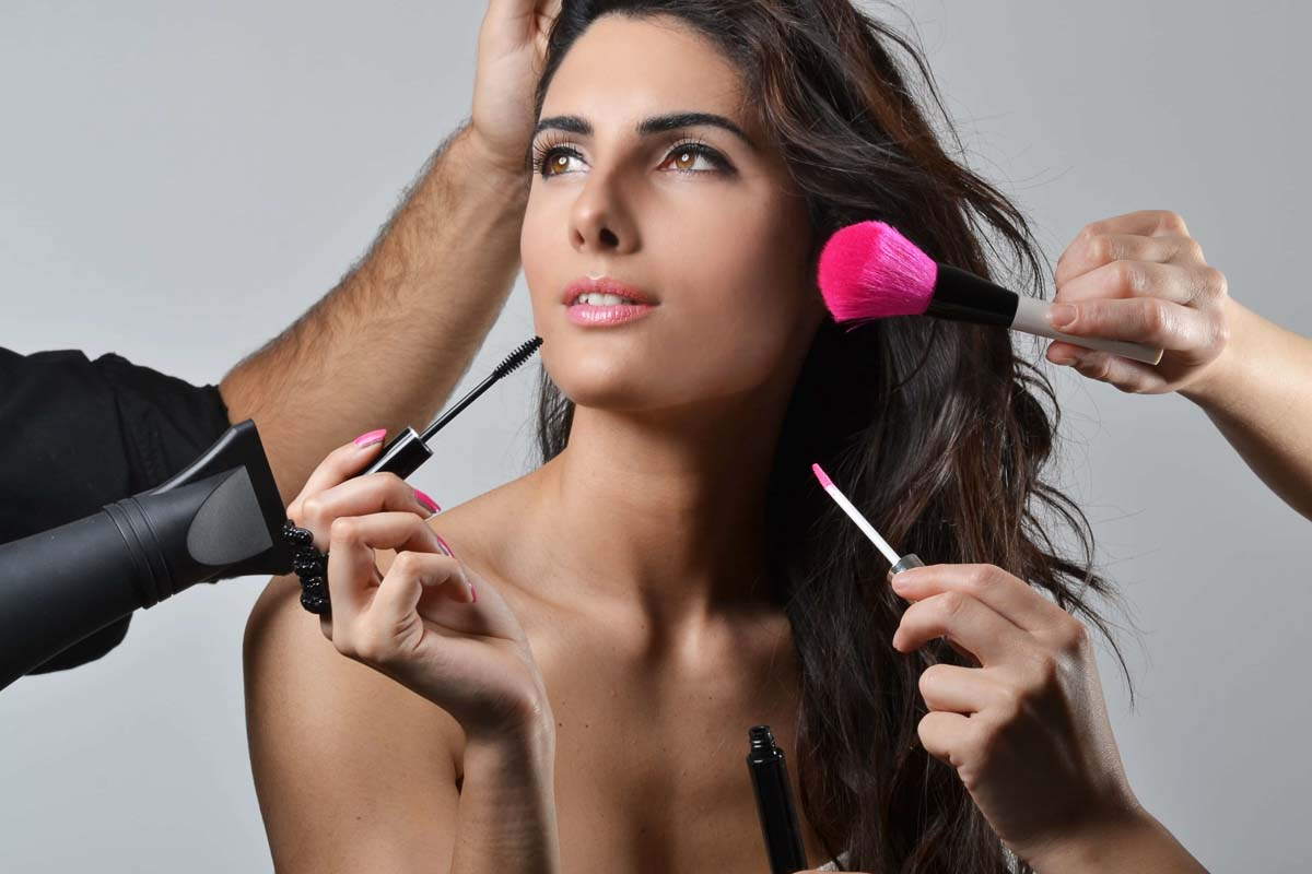 Sesion con maquillaje glamour