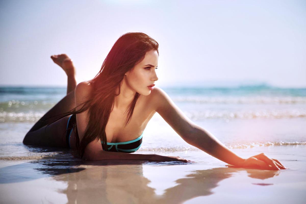 sesión de fotos en playa